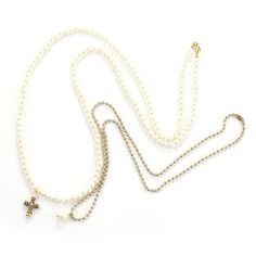 * Cross Necklace  * Alloy  * Alloy Chain Long 68cm   * Bead Chain Long 92cm  * US$32.25