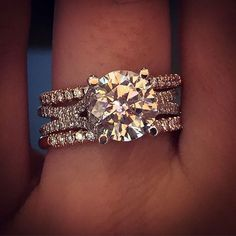 Uneek Engagement Ring and Wedding band Stack: