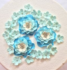 27 pcs cake topper toppers for wedding light blue Rose ombre set edible fondant Flowers decorations baby shower bridal spring Mother's Day by InscribingLives (29.99 USD) http://ift.tt/1OiW1bn