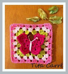 Square borboleta para enfeitar suas peças.. com Pap no blog http://www.titacarre.com.