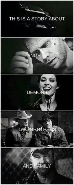Angels, Demons, Two Brothers, and Family.