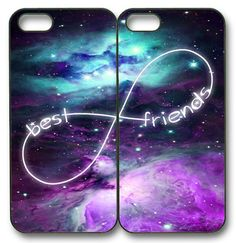 Custom Mint Purple Nebula BFF Best Friends Case -2 Cases For iPhone 6S 6 5 5S 5C