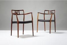 Pair Of Niels Moller Model 64 Chairs, C1966 photo 1