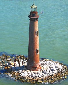 Sand Island Lighthouse is located at the southernmost point of the state, near Dauphin Island, at the mouth of Mobile Bay.