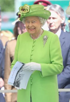 Queen Elizabeth at Bayeux Cemetery during D-Day 70 Commemorations on June 6, 2014 in Bayeux, France. Chris Jackson, Getty Images.