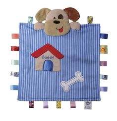 Peek-a-boo Taggies Blanket - Buddy the Dog