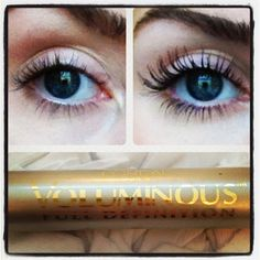 What a difference mascara makes... Loreal Voluminous Full Definition (similar to Armani Eyes to Kill) #makeup