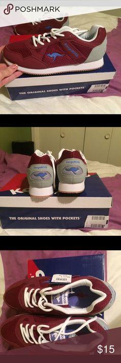 Kangaroos Women's size 9 NWT burgundy grey Kangaroos Shoes Sneakers