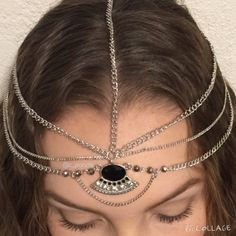 Boho bohemian gypsy hair accessory chain jewelry Silver tones headband chain hair accessory new without tags, very cute for festivals and summertime  Boho bohemian gypsy hair accessory Accessories Hair Accessories