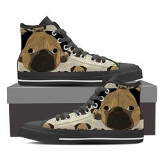 Pug Lover 5 High Tops