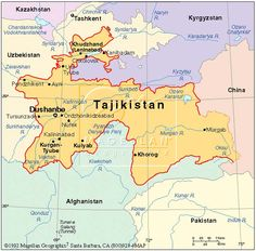 Tajikistan has about 8 millions inhabitants.  Mountains cover more than 90% of the country. It has a transition economy that is dependent on aluminum and cotton production
