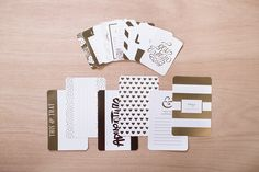 Golden Themed Cards.  Project Life by Becky Higgins.
