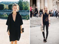 Black blouse on the right...Mmmmmmm
