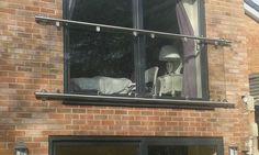 the balcony glass frame Glass Juliet Balcony, Juliette Balcony, Glass Balcony, Iron Balcony, Privacy Glass, Clear Glass, Frame, Balconies, Tower