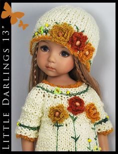 OOAK-Yellow-Outfit-for-Little-Darlings-Effner-13-by-Maggie-Kate-Create