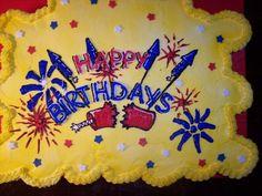 Fireworks Birthday on Cake Central Fourth Birthday, Birthday Celebration, Chocolate Recipes, Chocolate Cake, Fireworks Cake, Cake Central, Baking Tins, Cake Tins, Birthday Cupcakes