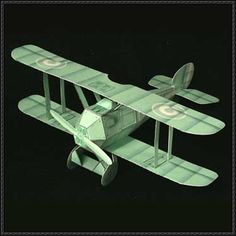 WWI Ghost Biplane Fighter Free Aircraft Paper Model Download - http://www.papercraftsquare.com/wwi-ghost-biplane-fighter-free-aircraft-paper-model-download.html