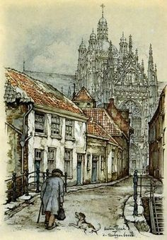 Wow, this illustrator was so talented. I love the different worlds he created. Anton Pieck (Dutch Illustrator 1895-1987)