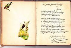 Mijn grootvader Hendrik Johannes Wesseldijk in het album van mijn moeder Josepha Johanna Wesseldijk. Dots, Bullet Journal, Letters, Albums, Printable, Stitches, Letter, Lettering, Calligraphy