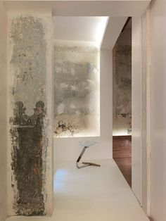 The Original Condition of the Stone Walls and Plastering in This Old Town Barcelona Flat Have Been Retained and Protected by a Layer of Varnish | via Dezeen
