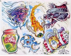 new school tattoo designs - Google Search