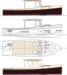Salty 29 a low powered custom wood boat