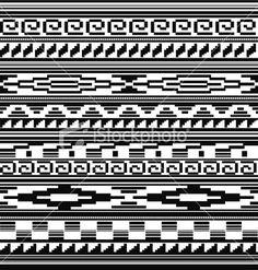 Native American Tribal Beading Patterns | Seamless - Native American, Aztec, Mian Pattern Royalty Free Stock ... by smetana