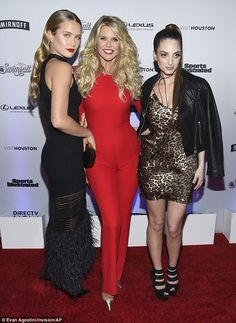 Beauty in triplicate: Christie Brinkley and her daughters Sailor, left, and Alexa Ray, right, posed together at the official launch party for the new Sports Illustrated Swimsuit issue Thursday
