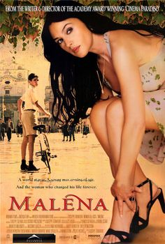 Malena (3.5 stars) This is an easy to enjoy Italian movie about a boy's coming of age infatuation with an older woman, spectacularly played by the smoldering Monica Bellucci, who did much with a role that didn't allow her to do more than be eye candy. It is pretty frank in its mature themes and has an ample amount of nudity, as you should expect from a European movie where they are more open about such things. I laughed several times and was disgusted by the community's treatment of this…