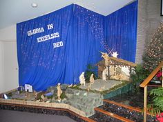 In the manger, in the city of David a savior has been born...