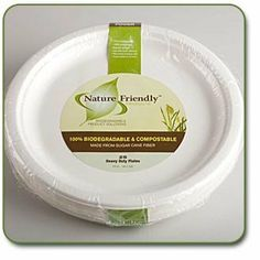 """Biodegradable 10 inch Classic Round Plate (Pack of 25) by Stalkmarket. $10.45. Don't need a whole case? Buy only what you need in convenient small quantities!. Use for any hot or cold foods. Can be Refrigerated and Frozen and is Microwave Safe.. Sturdy Leakproof Design. Styrene Free Biodegradable Compostable 9"""" Classic Round Plates Retail Pack of 25 - for hot and cold foods. Traditional paper plates are just that - made from paper. This means flimsy and leaky - but in t..."""