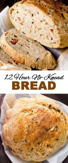 simple to make 12 hour no knead bread recipe