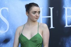""""""" Maisie Williams at premiere of Game Of Thrones season 7 on July 2017 in Los Angeles, California. Acteurs Game Of Throne, Maisie Williams, Season 7, Celebs, Celebrities, Doctor Who, Camisole Top, Actresses, Tank Tops"""