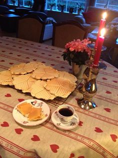 """Tørrevafler is a tradition in my home on Norway- a dried version of our heart shaped waffles, topped with delicious """"brunost"""", jam and a cup of coffee = happiness!!"""