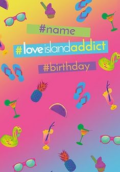 Love Island Addict Personalised Birthday Card