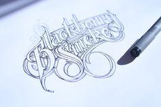 .Hand Lettering II by Martin Schmetzer, via Behance.