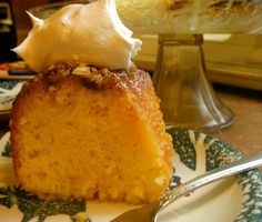 Rum Cake ~ Twig and Feather Yummy Recipes, Delicious Desserts, Cake Recipes, Cooking Recipes, Yummy Food, Bacardi Rum Cake, Xmas Cookies, Eat Dessert First, Food Cakes