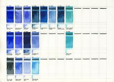 Test Swatches: Blue