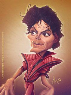 Caricature de Michael Jackson par Brice Mercier
