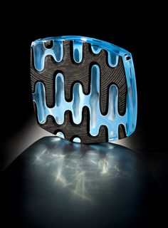 Ethan Stern INKY // LOOPS // DOTS hand blown // wheel carved