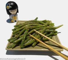 Haricot Verts Recipe, Healthy Snacks, Healthy Recipes, Exotic Food, My Best Recipe, Vegetable Salad, Asian Recipes, Green Beans, Vegan Recipes