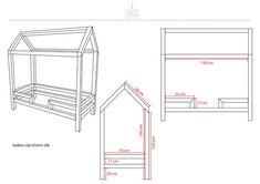 Gratis #bouwtekening #peuterbed #bedhuis | Studiostylliz