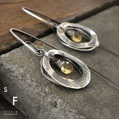 Amber Earrings, Garnet Earrings, Small Earrings, Silver Hoop Earrings, Etsy Earrings, Oxidized Sterling Silver, Handmade Sterling Silver, Sterling Silver Bracelets, Matching Necklaces