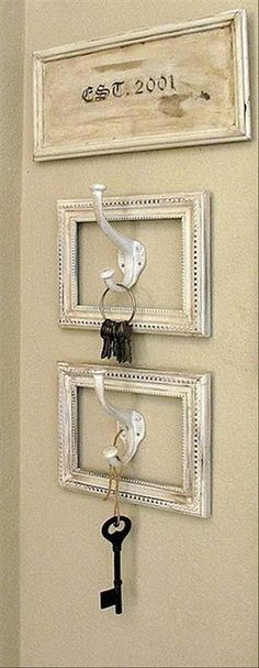 A stylish way to create a key holder #DIY #Decor