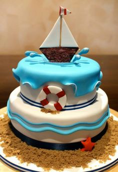 Princessandthepea Cake My Cousin Made This I Think Its The - Boat birthday cake ideas