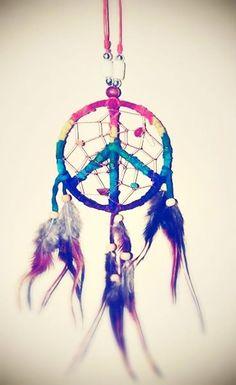 dream catcher #peace #rainbow
