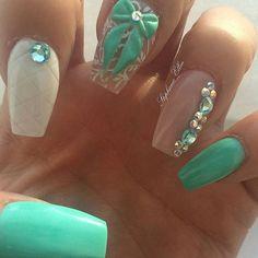Instagram media stephanie.ellen.nails - #nails #nailart #naildesigns #3dbow #tiffanycolor #coffinnails #sculptednails #ignails #instanails #notd #notpolish #nailsoftheday #nailsofinstagram #nailtech #sexynails