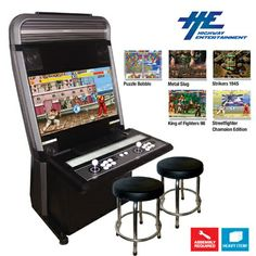 "Vewlix L 32"" LCD Arcade Machine With 2 Stools"