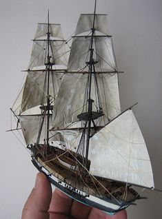 My waterline model of H.M.S.Sophoe, fictional mount of Jack Aubrey in the Patric O'Brien novels but based on the real H.M.S. Speedy . https://en.wikipedia.org/wiki/HMS_Speedy_(1782)
