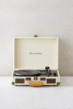Crosley X UO Cruiser Cream Briefcase Portable Vinyl Record Player